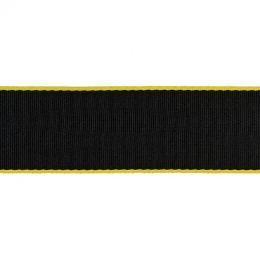 Yellow Edged Black Seat Belt Webbing