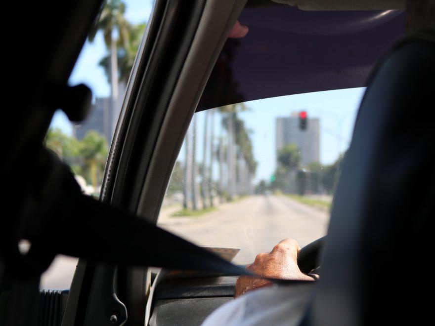 wearing seatbelt